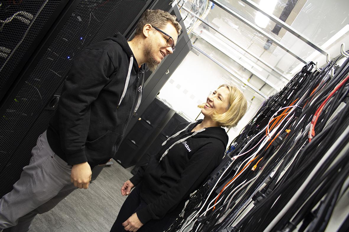 Juho Salli ja Anu Holm tekevät yhteistyötä Tulevaisuuden Sairaala -hankkeessa.