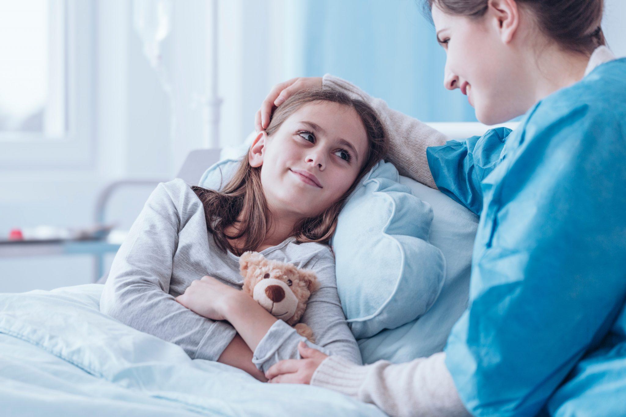 Hyvinvointiteknologiamessujen kuvituskuva, jossa nainen ja lapsi.