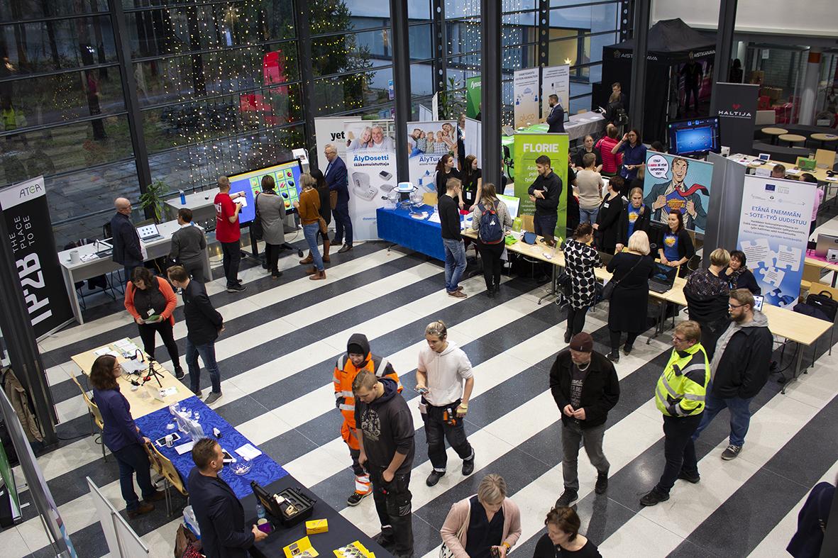 Vuoden 2019 Hyvinvointiteknologiamessut järjestettiin WinNovan tiloissa Vähäraumalla.