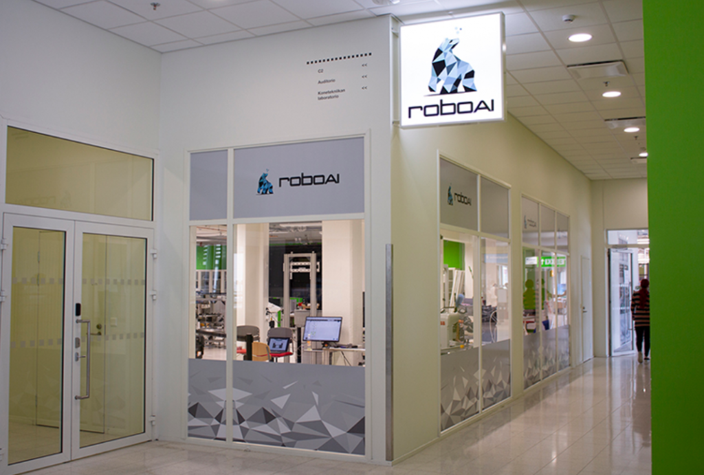 In the picture is the RoboAI laboratory.