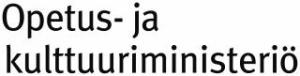 Opetus- ja kulttuuriministeriön logo.